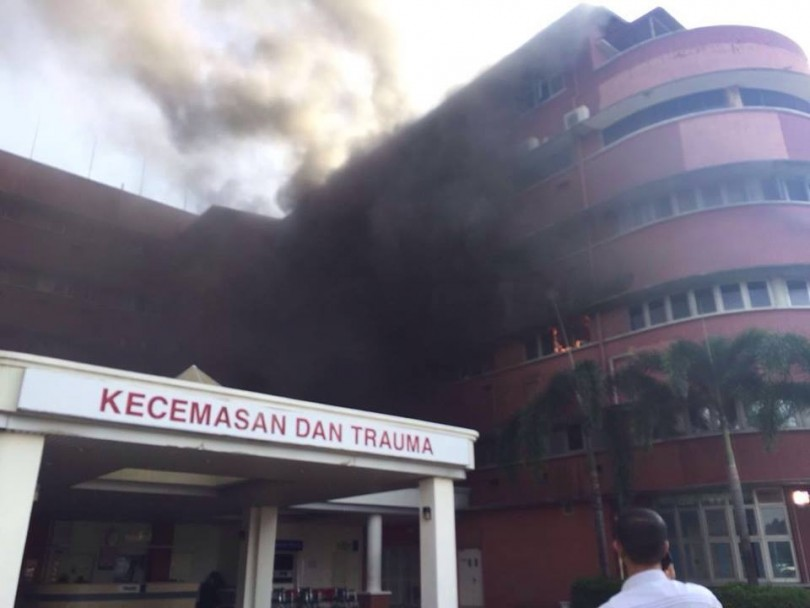 The fire at HSA that killed six patients.