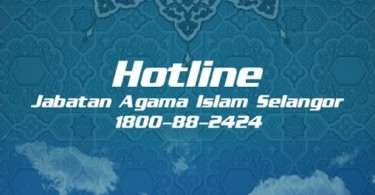 "The recently launched ""Hotline Jais"" mobile app."