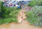 A factory identified as being one responsible for polluting the Semenyih River.