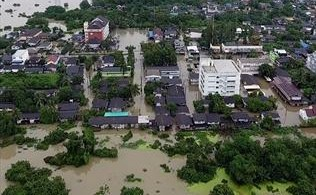 A flooded southern Thai town.