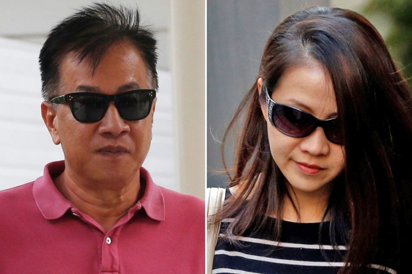 Ex-BSI bankers Yak Yew Chee, and Yvonne Seah who are jailed for committing offences related to the 1MDB controversy.