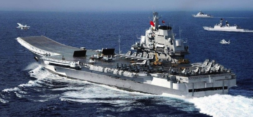 This month, a Chinese naval flotilla headed by its sole aircraft carrier, the Liaoning, took part in drills that took it around Taiwan.