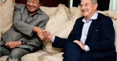 George Soros and former prime minister Tun Dr Mahathir Mohamad