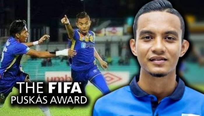 The world's best football goal scorer in 2016.
