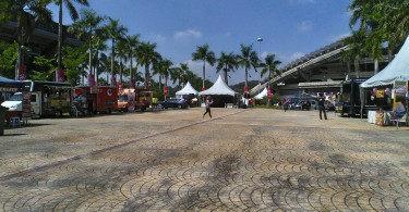 The carnival was set up at the vicinity of Malawati Stadium, yesterday.