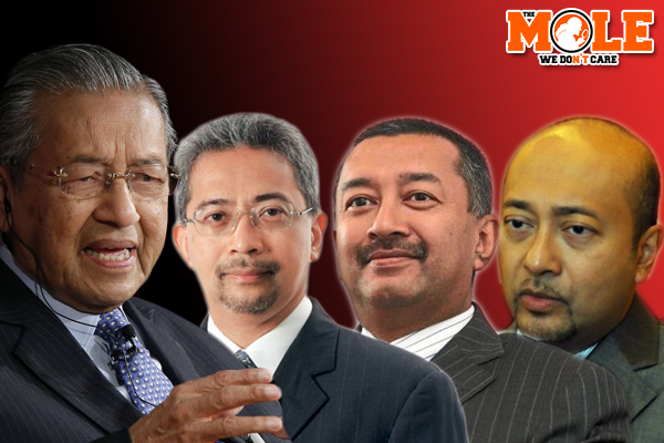 Image result for IMAGES OF MAHATHIR AND SONS