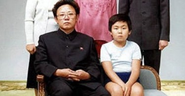 The late North Korean leader Kim Jong-Il (left) with his first born Jong-Nam in a 1981 family photo.