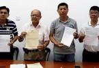 From left, Bachang assemblyman Lim Jak Wong, Kota Malacca MP Sim Tong Him, Duyong assemblyman Goh Leong San and Kesidang assemblyman Chin Choon Seong.