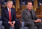 "President Donald Trump also said Arnold Schwarzenegger, the Republican former governor of California, had disastrous ratings on the NBC reality TV program ""Celebrity Apprentice,"" which he previously starred in."