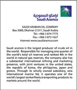 Just like Petronas, Saudi Aramco is a state owned national oil company.