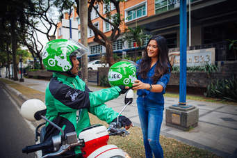 "The Go-Jek service in Jakarta is definitely better than the traditional and original ""ojek""."
