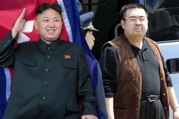 North Korean leader Kim Jong Un and his estranged half-brother Kim Jong Nam