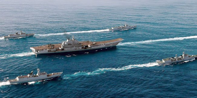 Chinese aircraft carrier Liaoning and its battle group