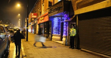 The part of Birmingham that was raided by the police.