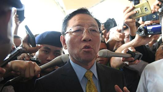 Ambassador Kang Chol was declared persona non-grata and left Malaysia for home Monday evening.