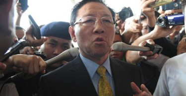 North Korean envoy Kang Chol at KLIA today.