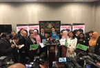 Minister in Prime Minister's Department Datuk Seri Azalina Othman Said with several MPs united for the tabling of the Bill today.