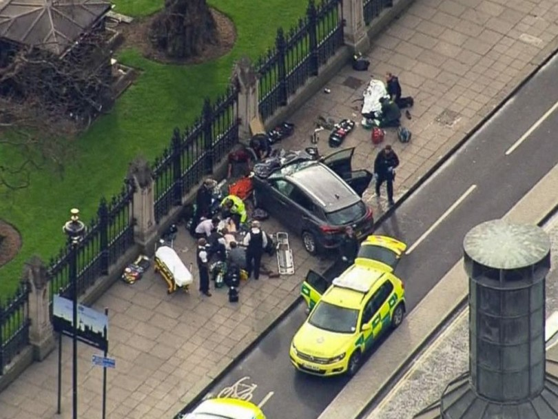 This was the incident near the Westminster Bridge.