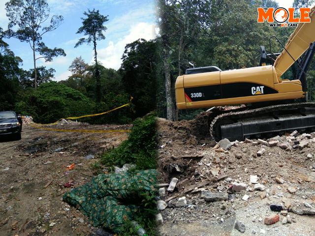 Pictures of JKR clearing the illegal landfills polluting the road leading to Hulu Gombak forest reserve.