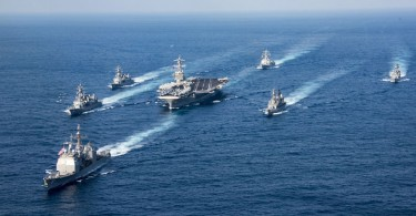 Carl Vinson strike group sailing towards Korean waters