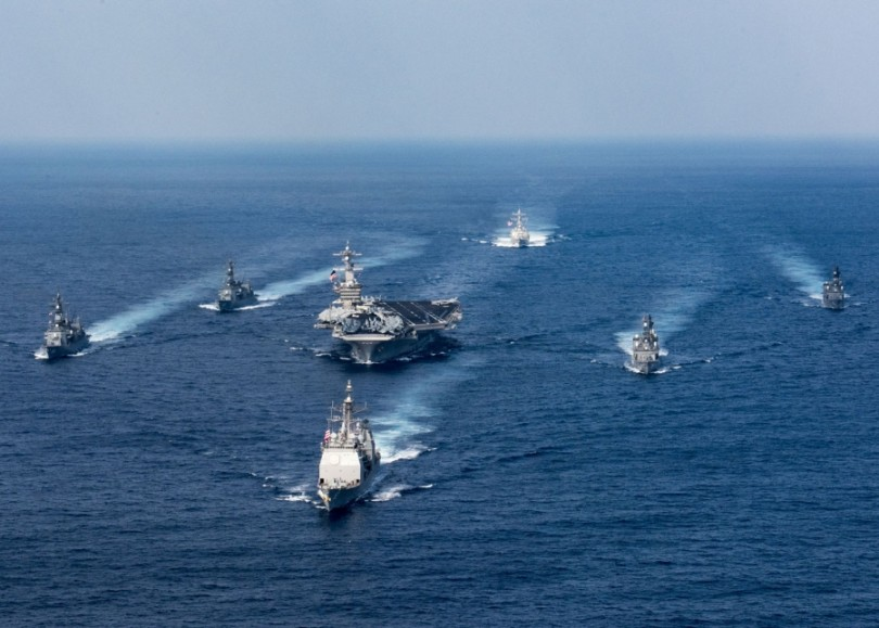 The Carl Vinson strike group