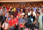 Prime Minister Datuk Seri Najib Razak with pro-establishment social media activists at a gathering last Friday.