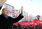 Triumphant Erdogan.