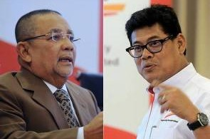 Zakaria (right) obviously has a problem with Isa his chairman (left) and insists he will only resign if proven guilty.