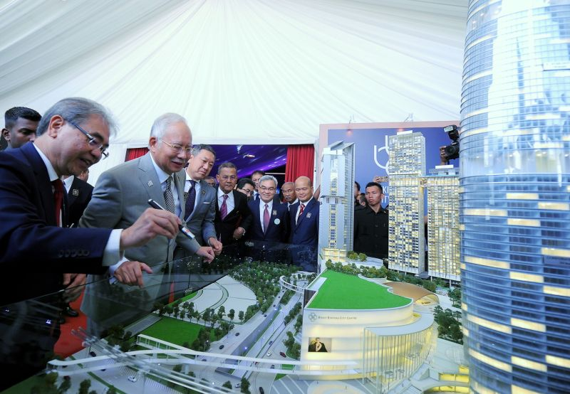 Datuk Seri Najib Razak at the groundbreaking ceremony of the Bukit Bintang City Centre (BBCC)