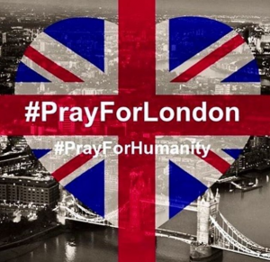 Messages with trending hashtags #PrayForLondon are flooding the cyberspace.