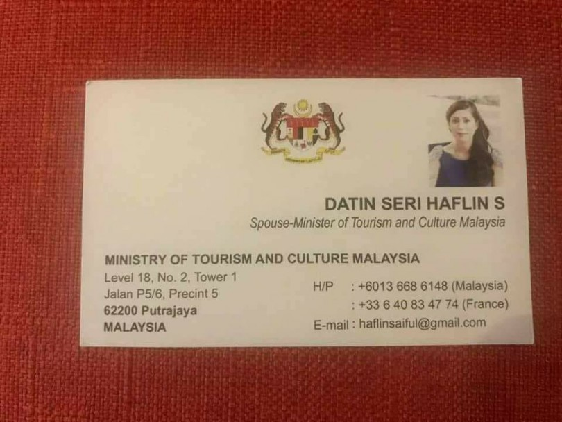 My wife\'s business card is fake: Nazri | The Mole