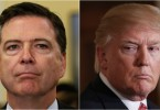 Ex-FBI director James Comey and President Donald Trump