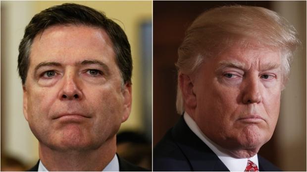 Ex-FBI director James Comey and President Donald Trump