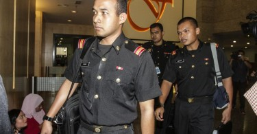 MACC personnel arriving at the FGV headquarters.