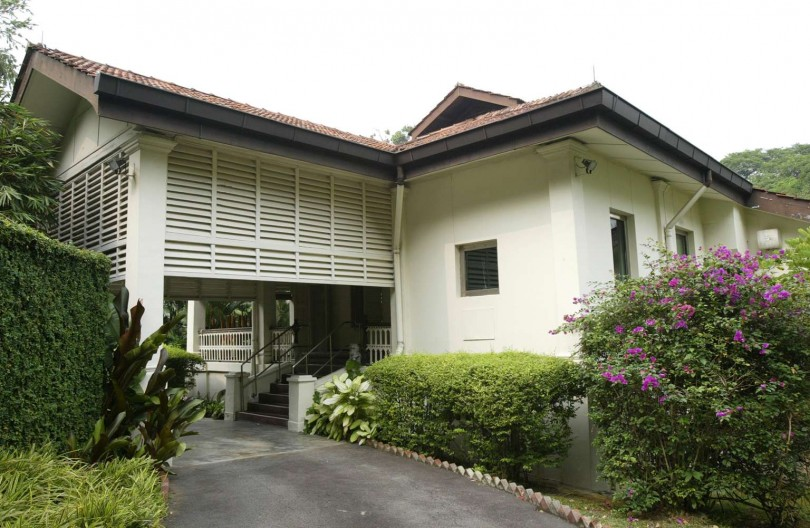 Lee Kuan Yew's Oxley Road residence which is at the center of the family feud.