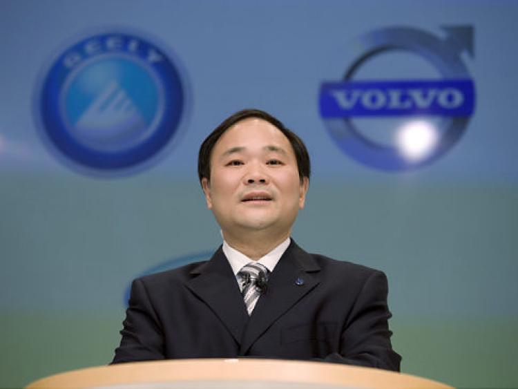 Geely Holding's chairman, Li Shufu