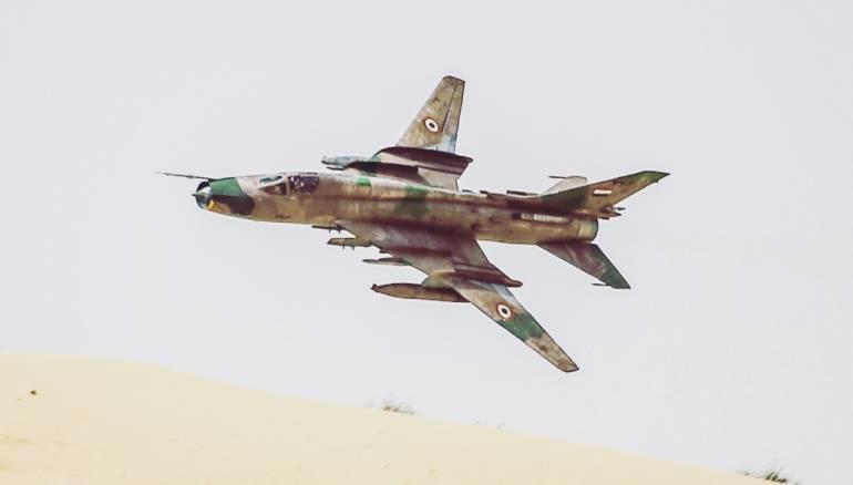 A Syrian SU22 jet