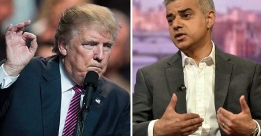 President Trump and London Mayor Sadiq Khan