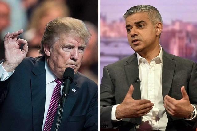 President Trump and London Mayor Sadiq Khan