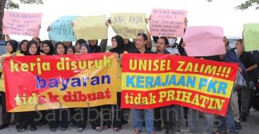 The 2012 Jana Niaga staff protest held in Unisel's main campus at Bestari Jaya, Selangor.