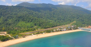 The existing landing strip on Tioman.