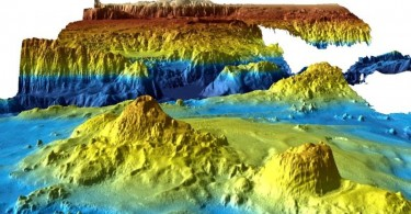An undated supplied image from Geoscience Australia shows a computer generated three-dimensional view of the sea floor obtained from mapping data collected during the first phase of the search for missing Malaysia Airlines flight MH370.