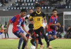 Shahrel Fikri Fauzi  (19) in action for Perak SEDC. He is the captain of the team and its top scorer so far this season.