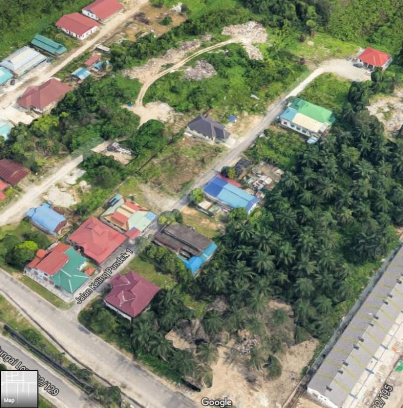 A Google Map screen-grab of the rudely-named, Jalan Keling Pundek 1.