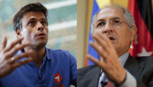 Venezuela opposition leaders Leopoldo Lopez and Antonio Ledezma