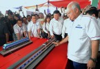 Prime Minister Datuk Seri Najib Razak at the ECRL groundbreaking ceremony on Wednesday