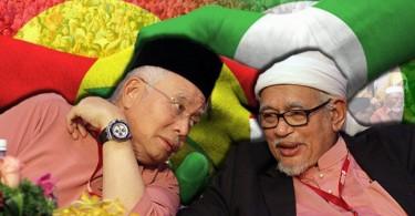 PM Datuk Seri Najib Razak and Pas president Datuk Seri Abdul Hadi Awang