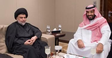Moqtada al-Sadr and Crown Prince Mohammed bin Salman