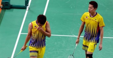 This doubles pair also out of the World Championships.