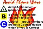 Avoid flame wars